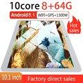 KT107 Runde Loch Tablet 10 1 Zoll HD Großen Bildschirm Android 8.10 Version Mode Tragbare Tablet 8G + 64G Weiß tablet Weiß EU Stecker-in Auto-Monitore aus Kraftfahrzeuge und Motorräder bei