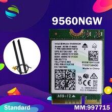 Placa de wifi para intel banda dupla ac 9560 9560ngw 9560ac mm: placa wi fi 957715 gbps ngff key e, para windows 10, 1.73
