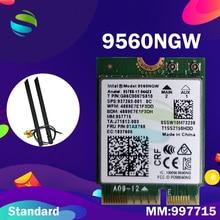 Wifi כרטיס עבור Intel Dual Band AC 9560 9560NGW 9560AC MM:957715 1.73 NGFF 6.0gbps מפתח E Wifi כרטיס 80211ac BT5.0 עבור Windows 10