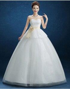 Image 5 - Popodion vestido de noiva sem alças, de princesa, roupa de noiva para casamento, taman90540