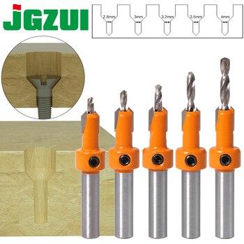 Avellanador de carpintería HSS, vástago de 8mm, juego de brocas, Extractor de...
