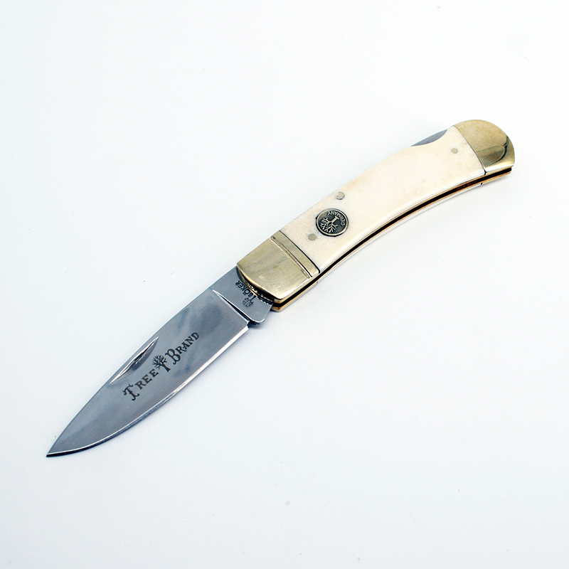 [Watchman DP003BN] White bone  floding knife Gentleman Pocket knives modern tradtional EDC tool collection