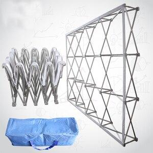 Image 1 - High GradePortable Aluminium Alloy Flower Folding Stand Wedding Backdrop   Stand Advertising Rainproof  Display Signature  Wall