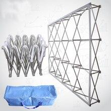 Soporte plegable de aleación de aluminio portátil, soporte de fondo para boda, publicidad, pantalla a prueba de lluvia, pared de firma