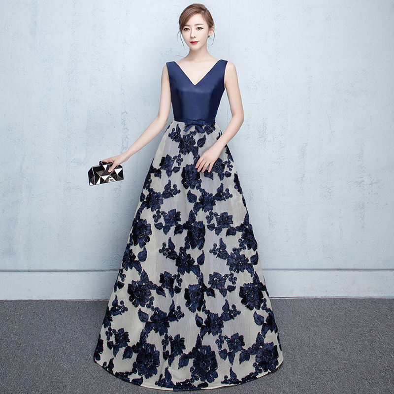 2020 Sale Scoop Party Evening Dress New Lace A Hair Substitute Long Style Show Thin Company Annual Meeting Slim Skirt Woman