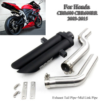For Honda CBR600 CBR600RR 2003-2015 Slip On Motorcycle Exhaust Muffler Tube 51mm Mid Link Pipe With Tail Moto Refit
