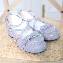 Zapatos Lolita de talón grueso de cabeza redonda Vintage Harujuku gradiente Kawaii zapatos Loli Cosplay linda chica dulce princesa JK Lolita zapatos