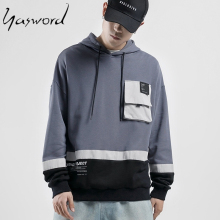 Yasword Men Casual Loose Hoodie With Front Pocket Hooded Jacket Sportswear Pullover Tops Sports Outwear