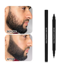 Beard Filling Pen Barber Pencil With Brush Facial Hair Engraving Styling Eyebrow Male Mustache Repair Shape Fathers Day Gifts