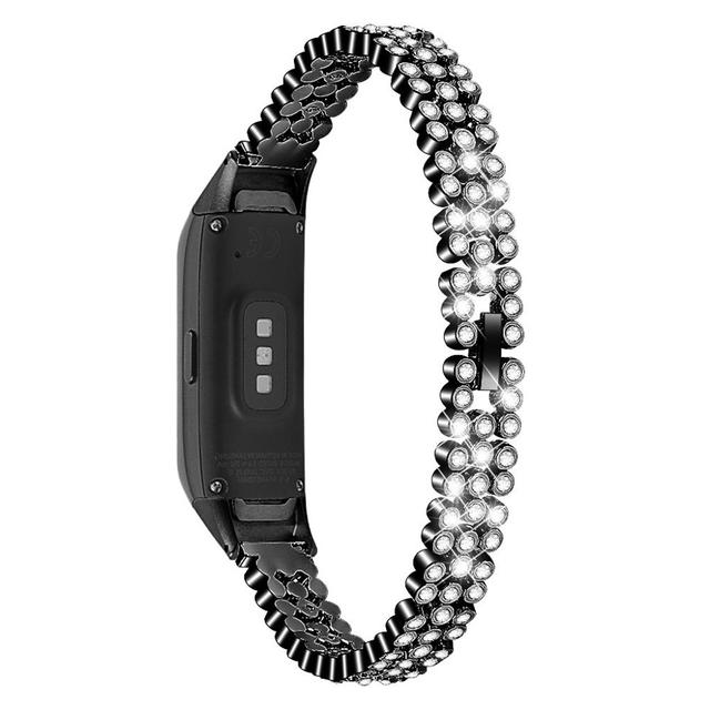 Replacement Wristband Rhinestone For Samsung Galaxy Fit sm-R370 Watch Strap luxury watchband for women gift rose gold slim band | Watchbands