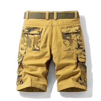 2021 Summer New Camouflage Tactical Cargo Shorts Men Khaki Jogger Military Cargo Shorts Men Cotton Casual Loose Men Shorts