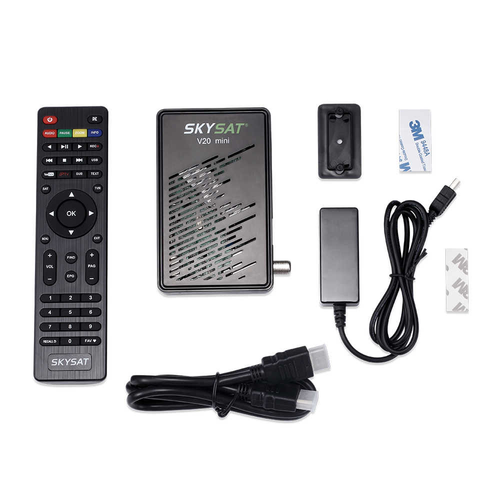 Récepteur Satellite SKYSAT V20 Mini système de contrôle de la température serveur hd Newcamd Powervu Youtube IPTV DVBS2 PK Gt media V8 Nova PK SKYSAT S2020