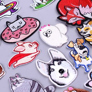 Cartoon Animal Cute Patch DIY Embroidered Iron-on Patches for Clothing Badge Cartoon Patch Unicorn Sequins Applique Hook Loop