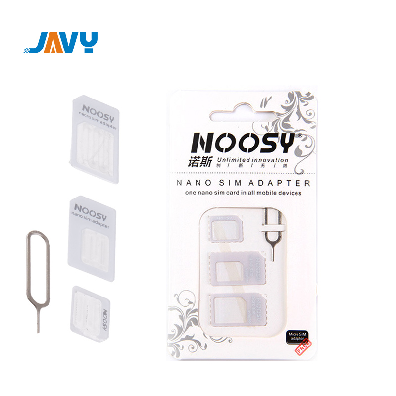 JAVY Micro Nano SIM Card Adapter Connector Kit For IPhone 6 7 Plus 5S Huawei P8 Lite P9 Xiaomi Note 4 Pro 3S Mi5 Sims Holder