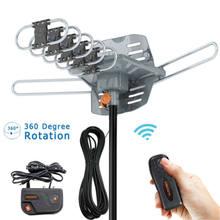 Antena digital externa para tv, antena digital hd 360 graus 150 milhas para hdtv dvb-t uhf vhf fm, sinal de alto ganho antena exterior da tv
