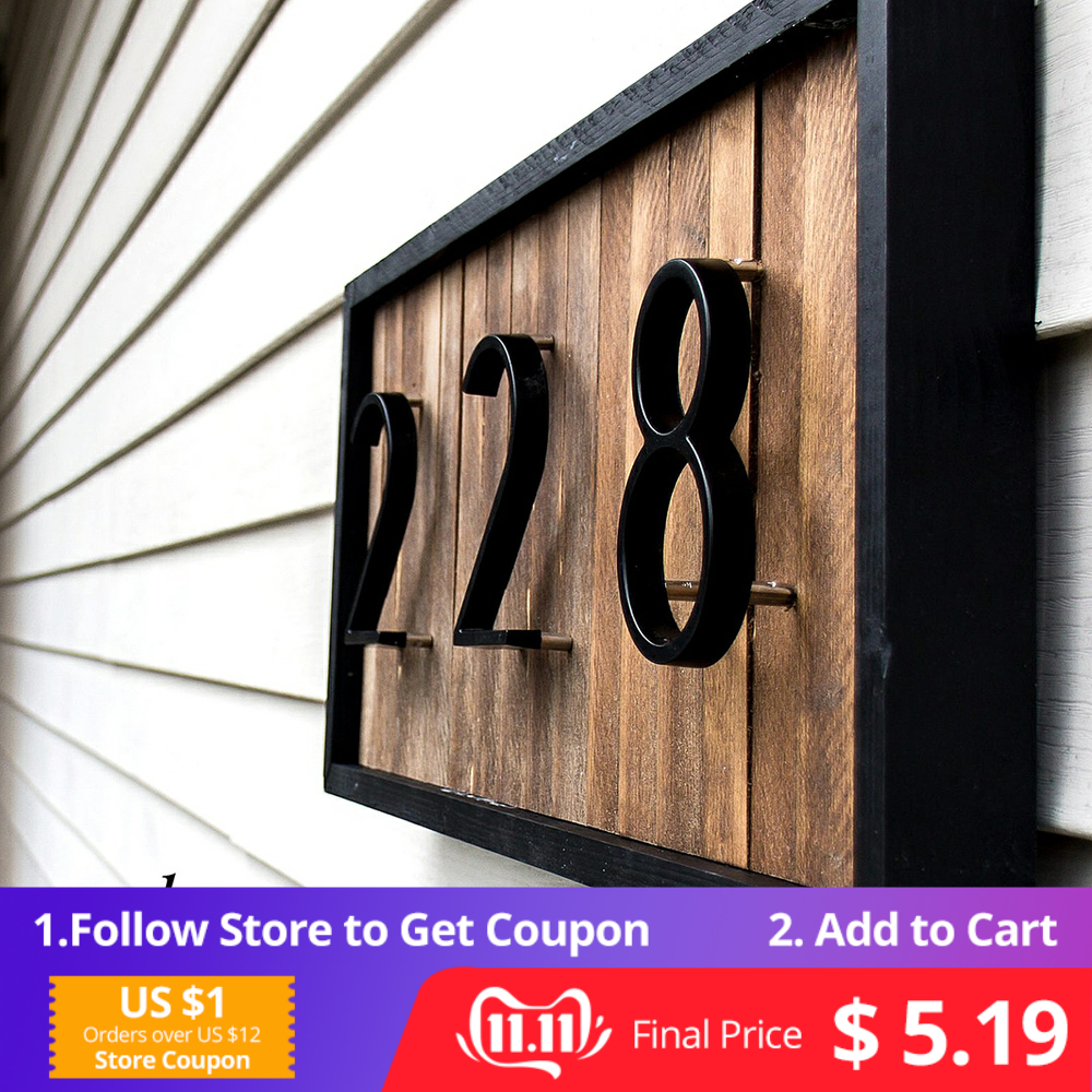 127mm Big Modern House Number Hotel Home Door Outdoor Address Plaque Zinc Alloy for Sign #0-9