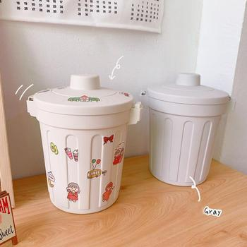 Mini Small Waste Bin Desktop Garbage Basket Home Table Dustbin Supplies Trash Office Plastic Can Box Barrel Sundries W9P2 office kitchen hanging garbage storage bucket rubbish box plastic trash can wall mounted waste trash bin mini desktop dustbin