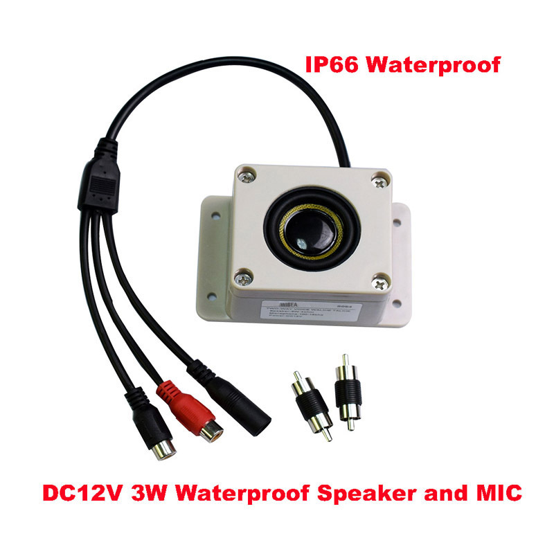 Outdoor IP66 Waterproof Speaker Microphone Surveillance Camera Outdoor With Input And Output Speakers Pickup