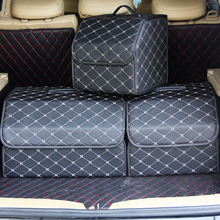 Dobrável organizador do tronco do carro automóvel caixa de armazenamento caso acessórios interiores do automóvel suprimentos