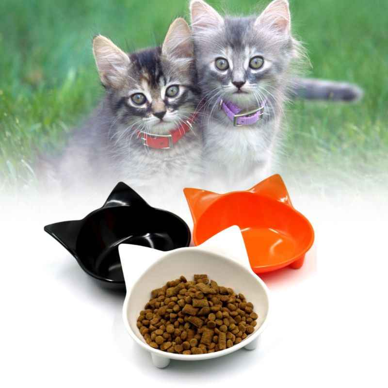 Pet Bowl Feeder Cute Cat Face Shape Non Slip Dog Cat Puppy Kitten Dishes Utensils Water Drink Food Feeding Pet Supplies C42