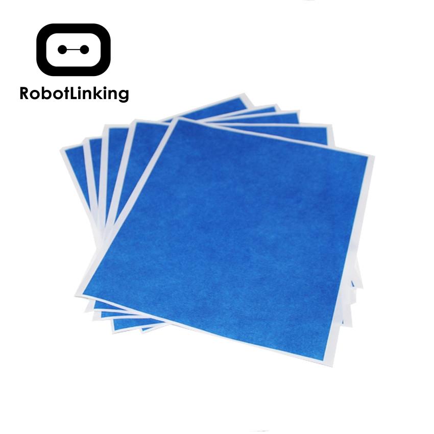 5pcs 3D Printer Heating Bed Blue High Temperature Tape 200mmx210mm With Rubber Adhesive Material Paper