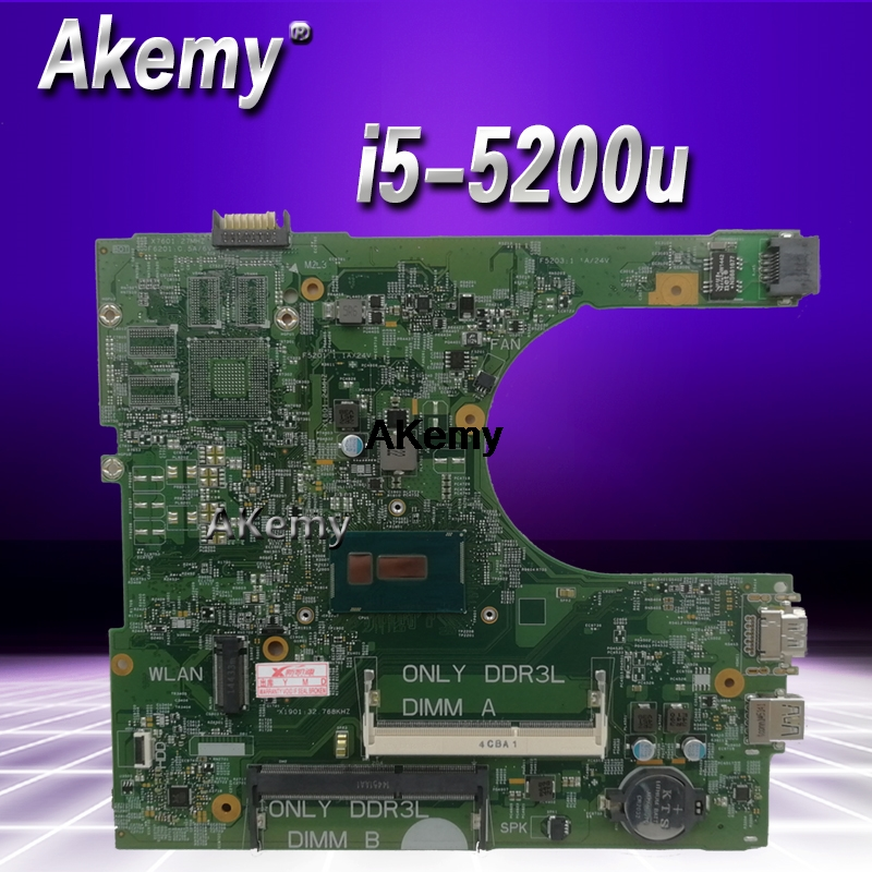 For DELL INSPIRON 15 3558 Laptop Motherboard With I5-5200U CN-0MHDT2 0MHDT2 MHDT2 PWB:1XVKN MB 100% Tested Fast Ship