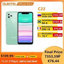 Yeni OUKITEL C22 Smartphone üçlü kamera 2.5D cam geri cep Phone4GB 128GB 1.8Ghz 2020 Celular telefon