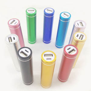 New Aluminum Cylindrical Mini Battery Bank Power Back Case Cellphone 18650 Battery Backup Charger DIY Box