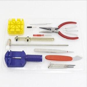 Image 1 - 16Pcs 시계 수리 키트 전문 스프링 바 도구 세트, 시계 배터리 교체 도구 키트, 시계 밴드 링크 핀 도구 세트