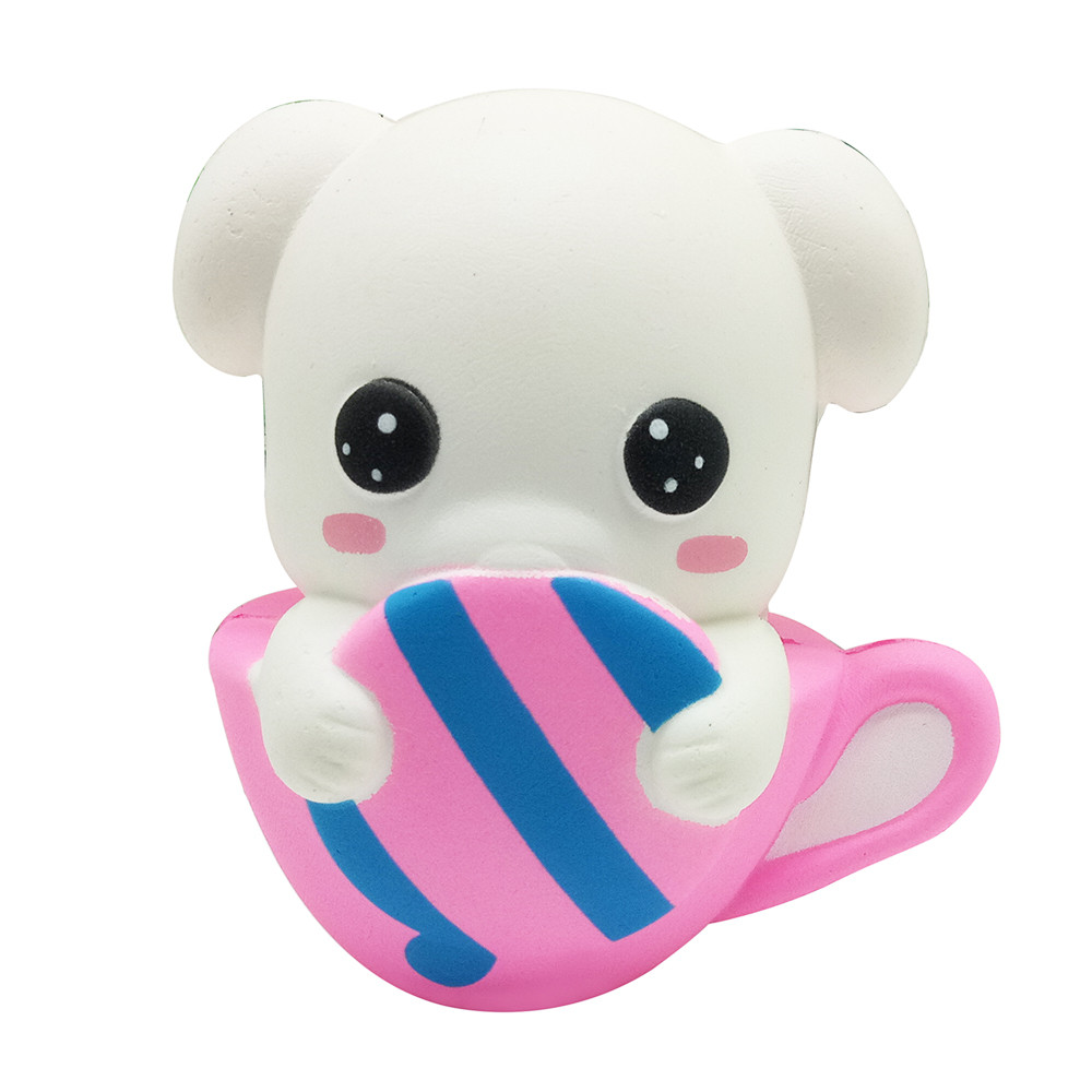 Squeeze Cup Dog Scented Toys Antistress Funny Kids Squishy Toy Charm Slow Rising Squeeze Stress Reliever Collection Toys L0115
