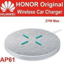 Huawei carregador sem fio honor, carregador 27w ap61 cp61 qi padrão tuv para p40 pro mate 30 pro v30 pro 5g iphone samsung mi