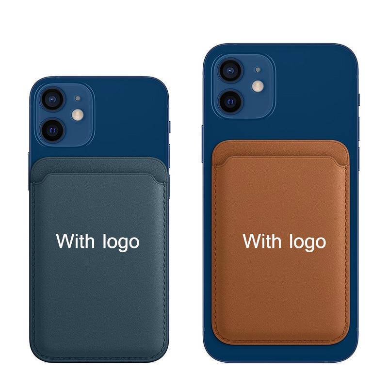 With LOGO Original Magsafe Card Bag Card Holder for Iphone 12 Pro Max Case Magsafe Magnetic Wallet Flip Case Adsorption|Flip Cases| - AliExpress