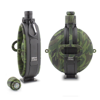 Collapsible Military Water Bags Portable Silicone Water Kettle Compass Bottle Cap For Outdoor Hiking Camping Cycling Travel