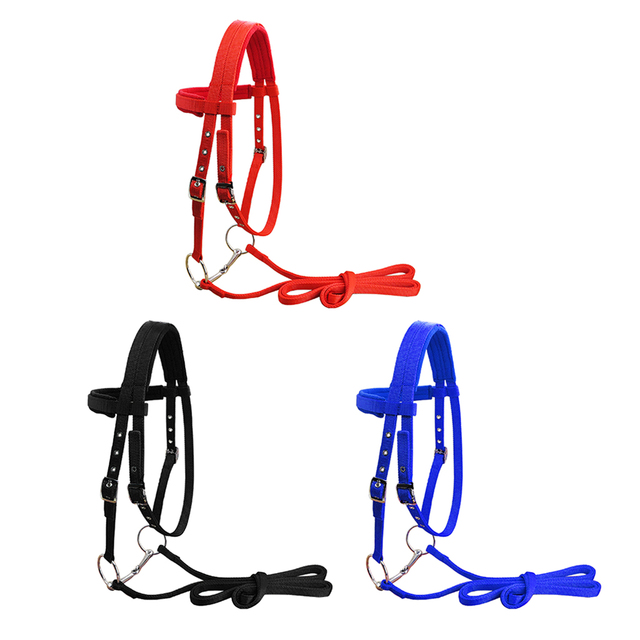 Horse Bridle Rein Headstall Thickened Halter Equestrian Accessories With Removable Snaffle  1