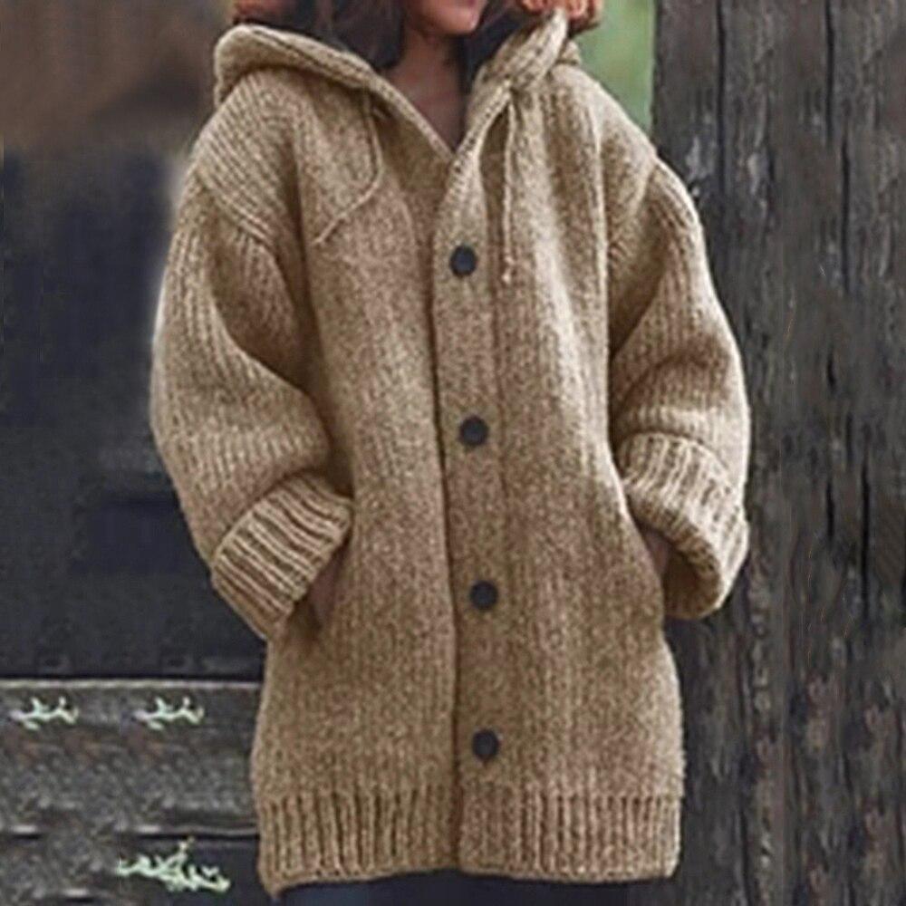Adisputent 2020 Spring Women Knit Sweater Oversized Jacket Coats Cardigan Loose Pullover Streetwear Open Front Sweaters 2020 New
