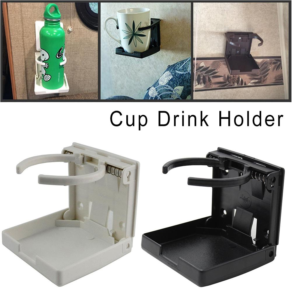 BOAT MARINE AUTO RV TRAILER  WHITE FOLD UP ADJUSTABLE WIDTH DRINK CUP CAN HOLDER
