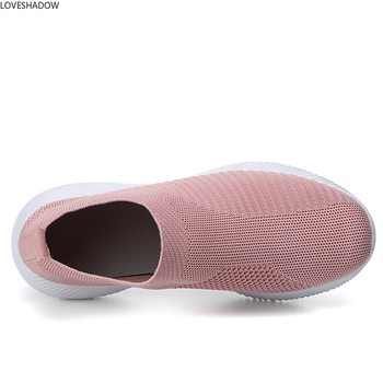 Women Sneakers Vulcanized Shoes Sock Sneakers Slip on Flats Breathable Walking Running Casual Shoes Mesh Plus Size Loafers genuine leather wedges slip on shoes women flats loafers wedge casual height increasing flat walking shoes plus size 34 40