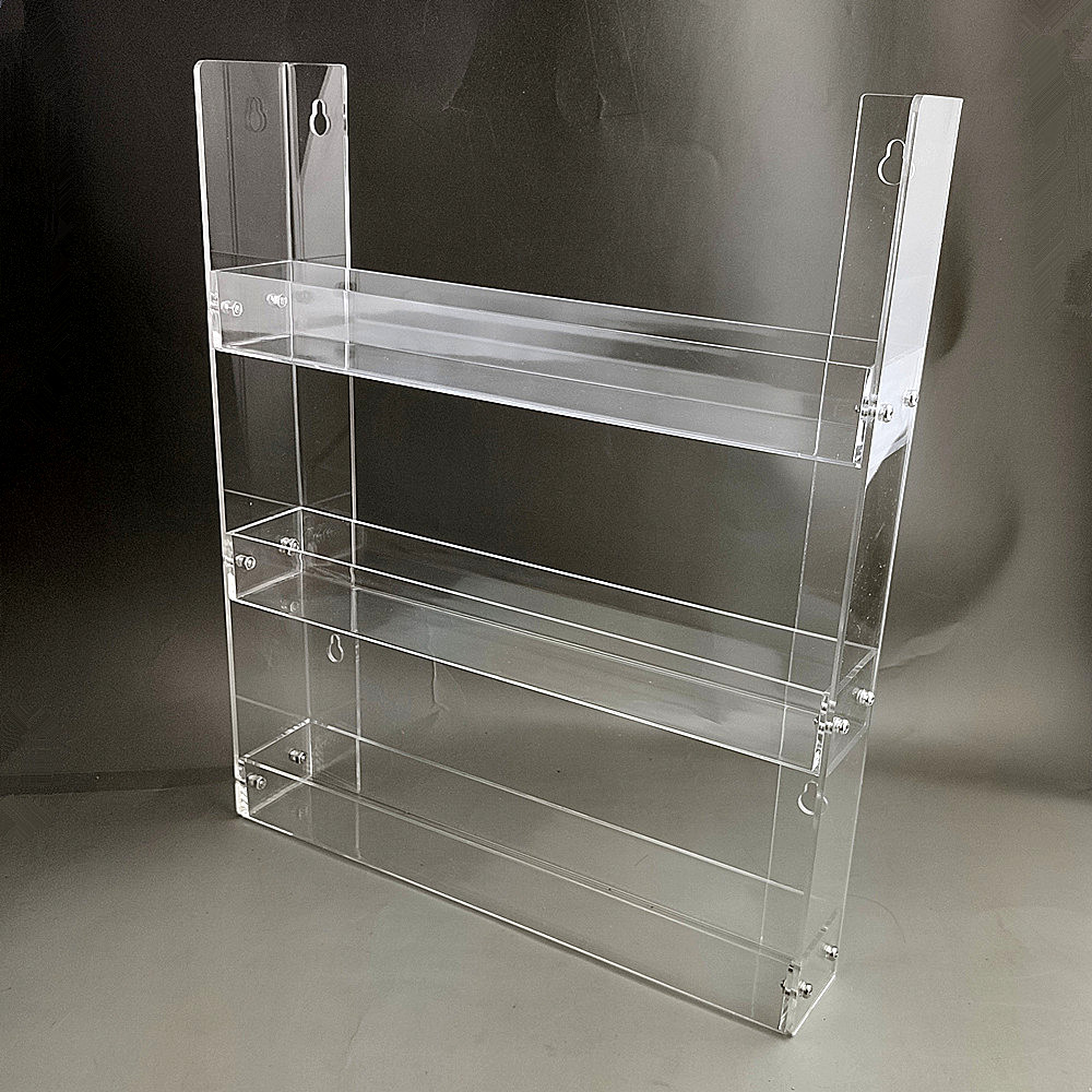 Plastic Acrylic Cigarette Or Small Products Display Stand Holder Shelf 345 Layers For Quick Store Wall-hung Type 100sets