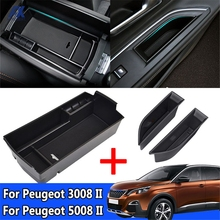 Car Armrest Box Storage For Peugeot 3008 3008GT 5008 2017-2020 Central Console Storage Box Stowing Tidying