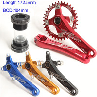 172.5mm Aluminum Hollowtech Bicycle Crankset Bike Crank BB91 Bracket Bottom 104bcd Chainwheelfor Mtb Road Bicycle Parts