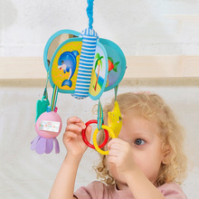 Newborn Rotating Bed Bell Baby Cartoon Animal Plush Stroller Crib Hanging Toys Appease Wind Chimes