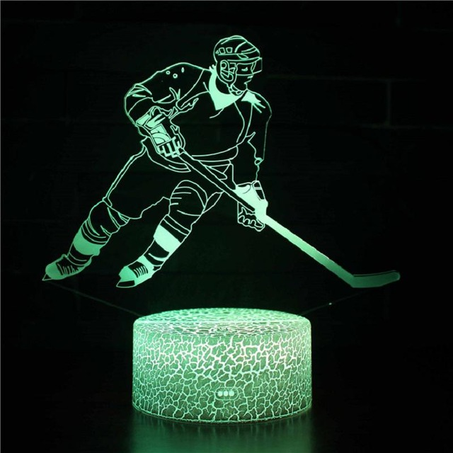 Basketball American Football Golf Ice Hockey Baseball 7 Color Lamp 3d Visual Led Night Lights For Kids Touch Usb Table Lampara