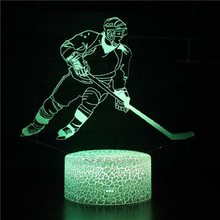 Basketbal Amerikaanse Voetbal Golf Ijshockey Baseball 7 Kleur Lamp 3d Visuele Led Night Lights Voor Kinderen Touch Usb Tafel lampara(China)