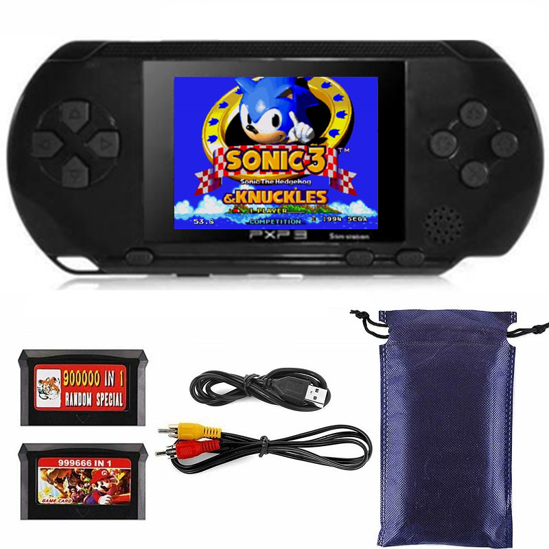 TIPTOP-Portable-16Bit-Retro-PXP3-Slim-Station-Video-Games-Player-Handheld-Game-Console-2pcs-Game-Card