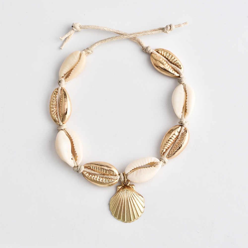 Europejska i amerykańska moda geometryczna szyszka lina stalowa Anklet, cekiny koraliki, czeska bransoletka na kostkę, ozdoby stóp