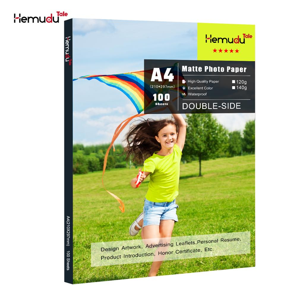 Double Side Matte Photo Paper A4 Inkjet Printing Waterproof For Inkjet Printer Photographer Imaging Printing Paper 100 Sheets