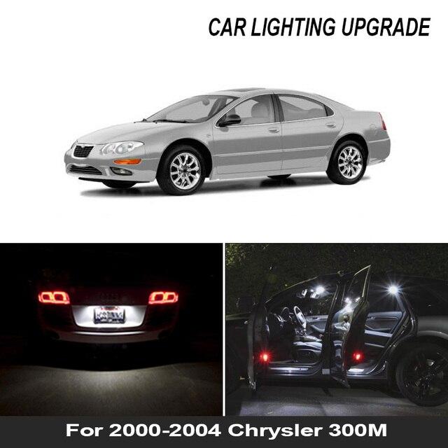 16x branco canbus acessórios do carro led interior lâmpadas kit para 2000 2004 chrysler 300m mapa cúpula tronco porta placa lâmpada