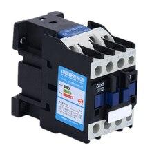 AC Contactor Rail-Mounted 3-Phase CJX2-1810 LC1 18A Din 3P 24V 36V 110V 220V 3-Pole No-Coil-Voltage-380v