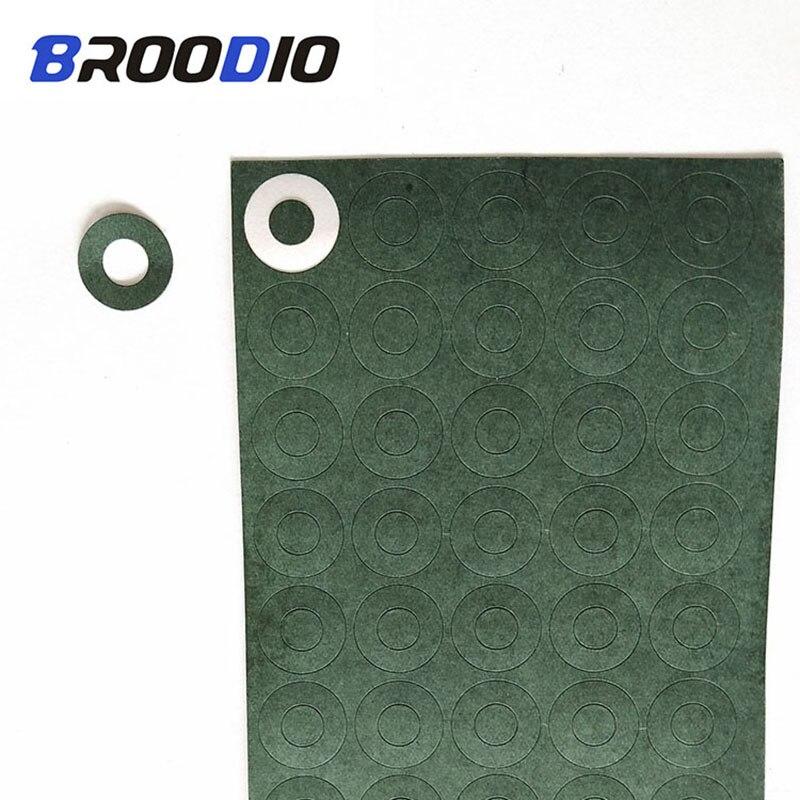 100 Pcs 1S 18650 Isolatie Pakking Batterij Gerst Papier Battery Pack Mobiele Isolerende Papier Lijm Patch Elektrode Geïsoleerde Pads