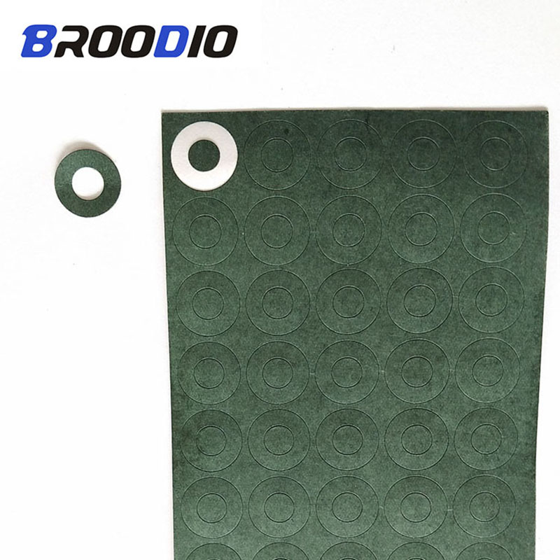 100pcs 1S 18650 Insulation Gasket Battery Barley Paper Battery Pack Cell Insulating Paper Glue Patch Electrode Insulated Pads